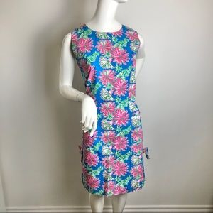 Lilly Pulitzer Cotton Sheath Dress Floral Print